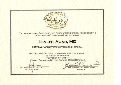 haartransplantation-in-der-turkei-istanbul-ishrs-Congres-Mondial-dr-levent-acar-gagnant