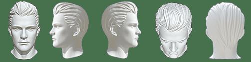 Vorgaben für die Kopfhaltung der Haaranalyse Bilder